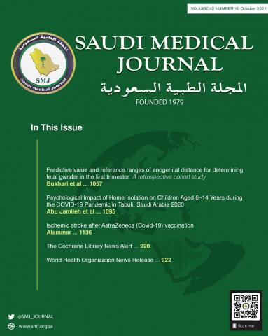 Saudi Medical Journal: 42 (10)