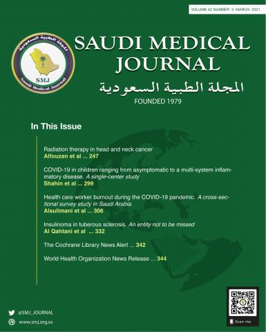 Saudi Medical Journal: 42 (3)