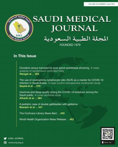Saudi Medical Journal: 42 (4)