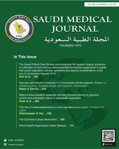 Saudi Medical Journal: 42 (6)