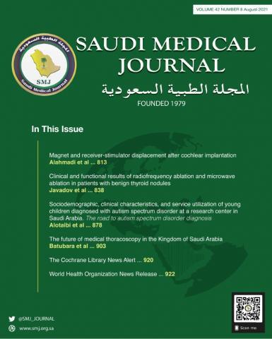 Saudi Medical Journal: 42 (8)
