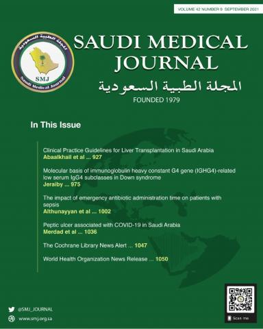 Saudi Medical Journal: 42 (9)