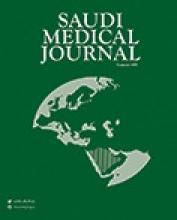 Saudi Medical Journal: 21 (5)