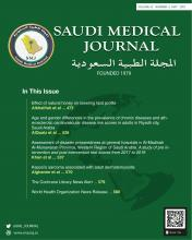 Saudi Medical Journal: 42 (5)